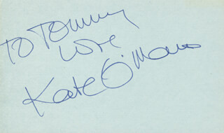 KATE O'MARA - AUTOGRAPH NOTE SIGNED