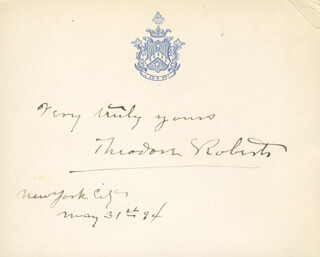 THEODORE ROBERTS - AUTOGRAPH SENTIMENT SIGNED 05/31/1894