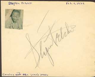 STEPIN FETCHIT - AUTOGRAPH CIRCA 1939