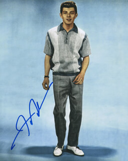 FRANKIE AVALON - AUTOGRAPHED SIGNED PHOTOGRAPH