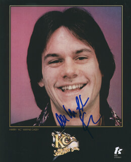 K C & THE SUNSHINE BAND (HARRY WAYNE CASEY) - AUTOGRAPHED SIGNED PHOTOGRAPH