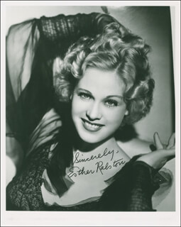 ESTHER RALSTON - AUTOGRAPHED SIGNED PHOTOGRAPH