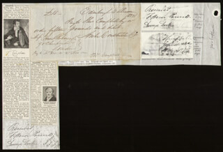 THOMAS CAMPBELL - CHECK SIGNED & ENDORSED 12/04/1822 CO-SIGNED BY: ARCHIBALD CONSTABLE