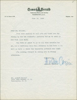 Autographs: AUSTINE CASSINI - TYPED LETTER SIGNED 06/16/1948