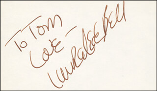 LAURA LEE BELL - AUTOGRAPH NOTE SIGNED
