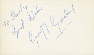 GEOFF GARLAND - AUTOGRAPH NOTE SIGNED