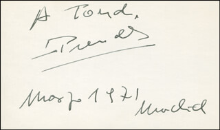 LUIS PRENDES - INSCRIBED SIGNATURE 3/1971