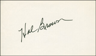 Autographs: HAL SKINNY BROWN - SIGNATURE(S)