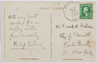 PHILIP CURTISS - AUTOGRAPH NOTE SIGNED 09/29/1920