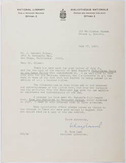 W. KAYE LAMB - TYPED LETTER SIGNED 07/27/1967