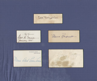 Autographs: FIRST LADY ELEANOR ROOSEVELT - SIGNATURE(S) CO-SIGNED BY: FIRST LADY MAMIE DOUD EISENHOWER, FIRST LADY GRACE COOLIDGE, FIRST LADY BESS W. TRUMAN, FIRST LADY EDITH BOLLING WILSON