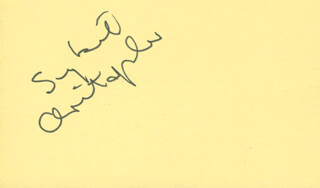 Autographs: SYBIL CHRISTOPHER - SIGNATURE(S)