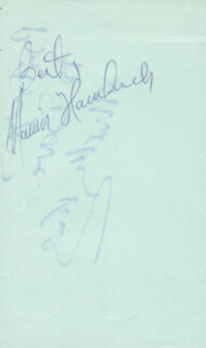 MARVIN HAMLISCH - AUTOGRAPH SENTIMENT SIGNED