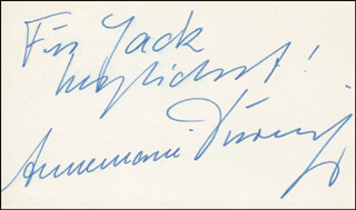 ANNEMARIE DURINGER - AUTOGRAPH NOTE SIGNED
