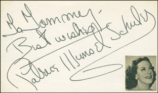 PATRICE MUNSEL - AUTOGRAPH NOTE SIGNED