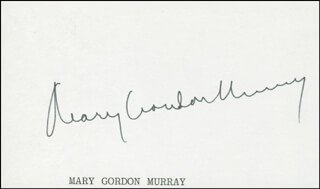 MARY GORDON MURRAY - AUTOGRAPH