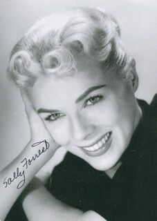 SALLY FORREST - AUTOGRAPHED SIGNED PHOTOGRAPH