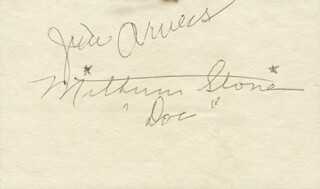 GUNSMOKE TV CAST - AUTOGRAPH CO-SIGNED BY: MILBURN STONE, JAMES ARNESS