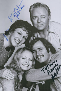 ALL IN THE FAMILY TV CAST - AUTOGRAPHED INSCRIBED PHOTOGRAPH CO-SIGNED BY: ROB REINER, JEAN STAPLETON