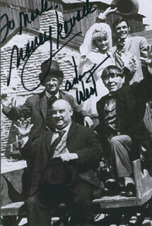 THE OUTLAWS IS COMING MOVIE CAST - AUTOGRAPHED INSCRIBED PHOTOGRAPH CO-SIGNED BY: ADAM WEST, NANCY KOVACK