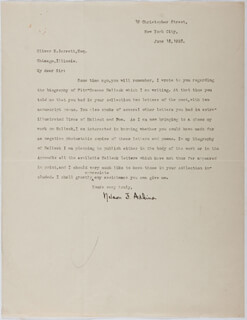Autographs: NELSON F. ADKINS - TYPED LETTER SIGNED 06/18/1928