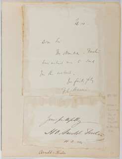 HUGH OAKELEY ARNOLD-FORSTER - AUTOGRAPH SENTIMENT SIGNED 11/02/1904