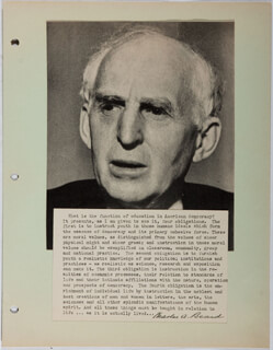 Autographs: CHARLES A. BEARD - TYPESCRIPT SIGNED