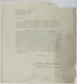 WILLIAM ROSE BENET - TYPED LETTER SIGNED