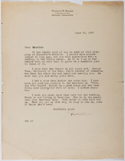 THORNTON W. BURGESS - TYPED LETTER SIGNED 06/25/1920