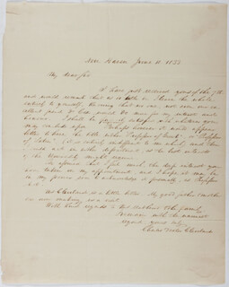 CHARLES DEXTER CLEVELAND - AUTOGRAPH LETTER SIGNED 06/10/1833