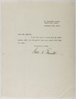 WALTER D. EDMONDS - TYPED LETTER SIGNED 12/20/1934
