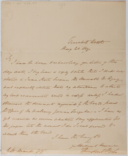 THEODORE E. HOOK - AUTOGRAPH LETTER SIGNED 05/24/1819