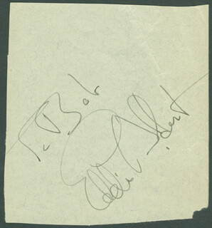 EDDIE ALBERT - INSCRIBED SIGNATURE