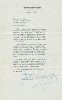 JOAN CRAWFORD - TYPED LETTER SIGNED 04/14/1951