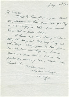 PAUL FIX - AUTOGRAPH LETTER SIGNED 07/14/1980