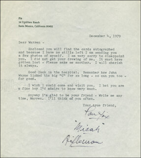 PAUL FIX - TYPED LETTER SIGNED 12/04/1979