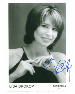 LISA BROKOP - AUTOGRAPHED SIGNED PHOTOGRAPH