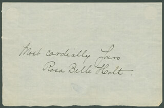 ROSA BELLE HOLT - AUTOGRAPH SENTIMENT SIGNED