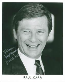 PAUL CARR - AUTOGRAPHED INSCRIBED PHOTOGRAPH