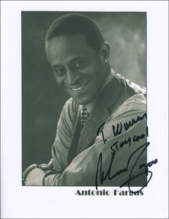 ANTONIO FARGAS - AUTOGRAPHED INSCRIBED PHOTOGRAPH