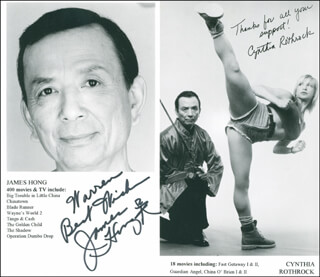 JAMES HONG - AUTOGRAPHED INSCRIBED PHOTOGRAPH