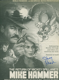 STACY KEACH - NEWSPAPER ADVERTISEMENT SIGNED