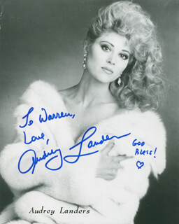 AUDREY LANDERS - AUTOGRAPHED INSCRIBED PHOTOGRAPH