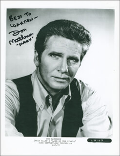 DON MATHESON - AUTOGRAPHED INSCRIBED PHOTOGRAPH