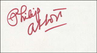 Autographs: PHILIP ABBOTT - SIGNATURE(S)