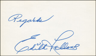 EDITH FELLOWS - AUTOGRAPH SENTIMENT SIGNED