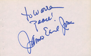 JAMES EARL JONES - AUTOGRAPH NOTE SIGNED