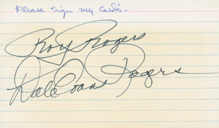 ROY ROGERS - AUTOGRAPH CO-SIGNED BY: DALE EVANS