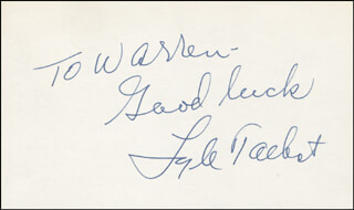 LYLE TALBOT - AUTOGRAPH NOTE SIGNED