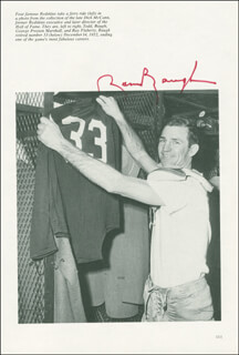 Autographs: SAMMY BAUGH - BOOK PHOTOGRAPH SIGNED